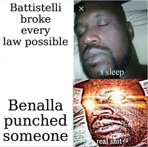 Battistelli broke every law possible, but Benalla punched someone