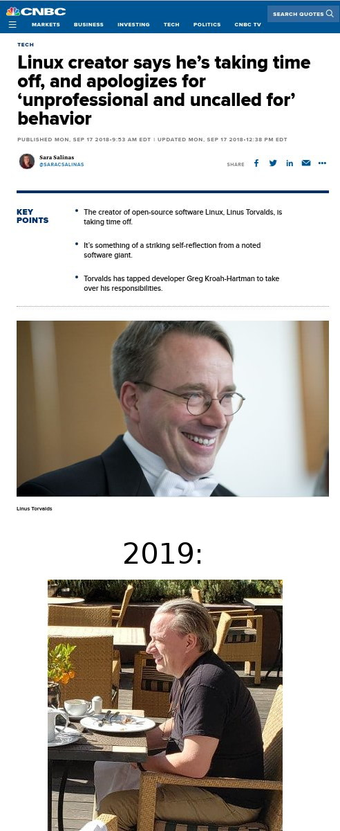 Torvalds age