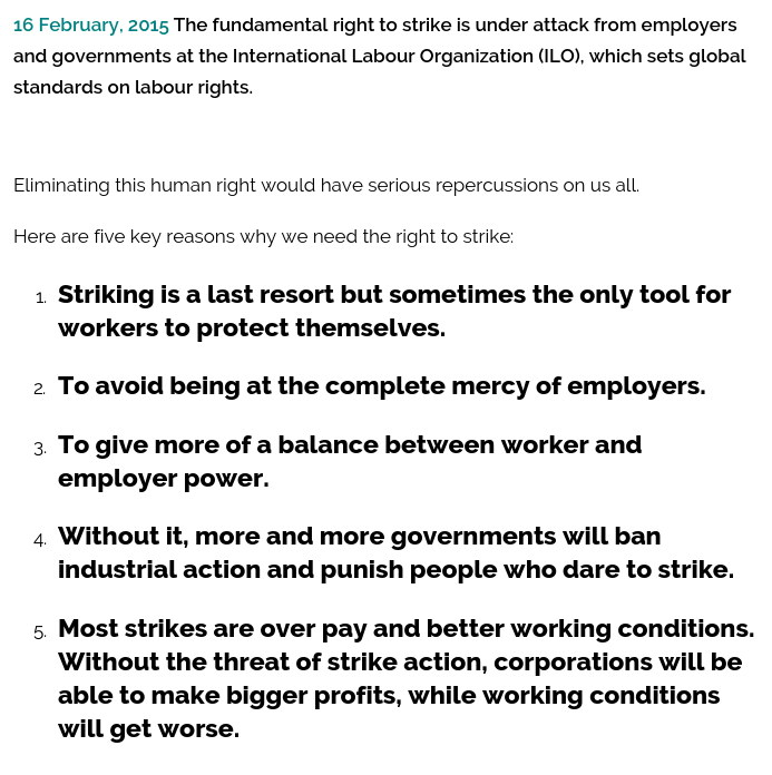 Why strike
