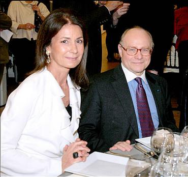 Valerie Breton with Alain Pompidou