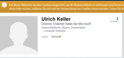 Director Channel Sales bei Microsoft