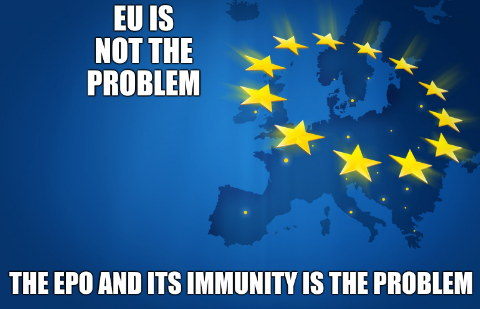 EU is not the problem. The EPO and its immunity is the problem.