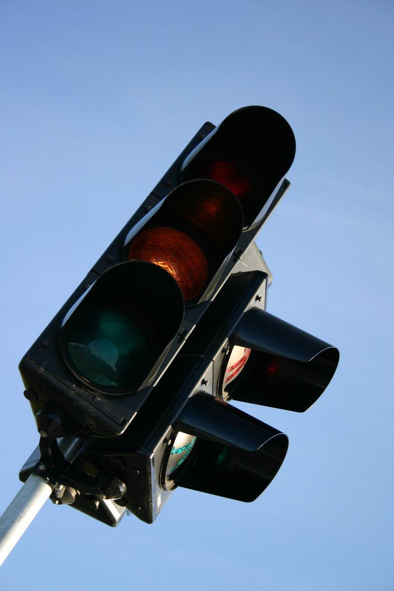 Defective traffic light