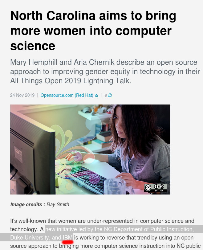 North Carolina aims to bring more women into computer science