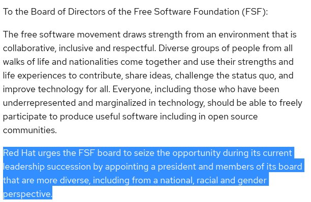 Open letter to the Free Software Foundation Board of Directors