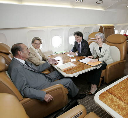 Lagarde's plane meeting