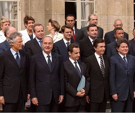 Sarkozy and Breton with group