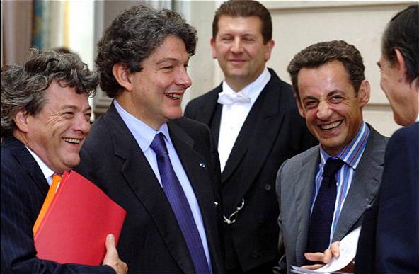 Sarkozy and Breton trio