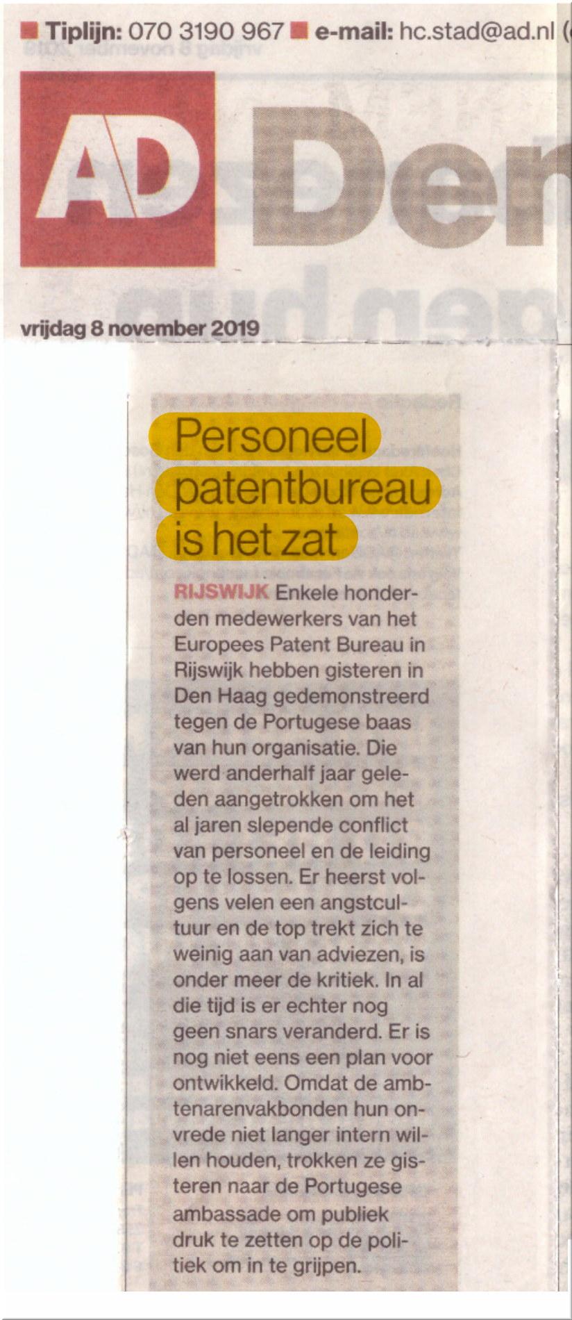 SUEPO protest in newspaper