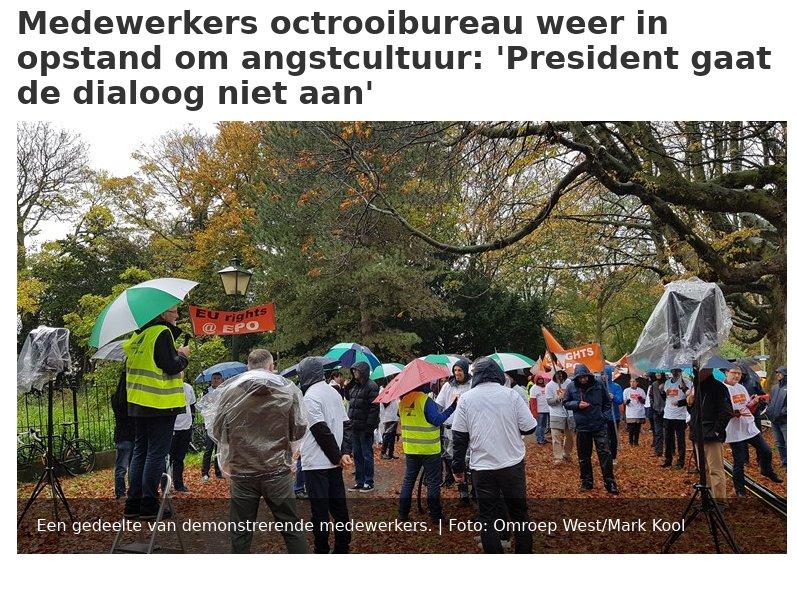 Hague EPO protest