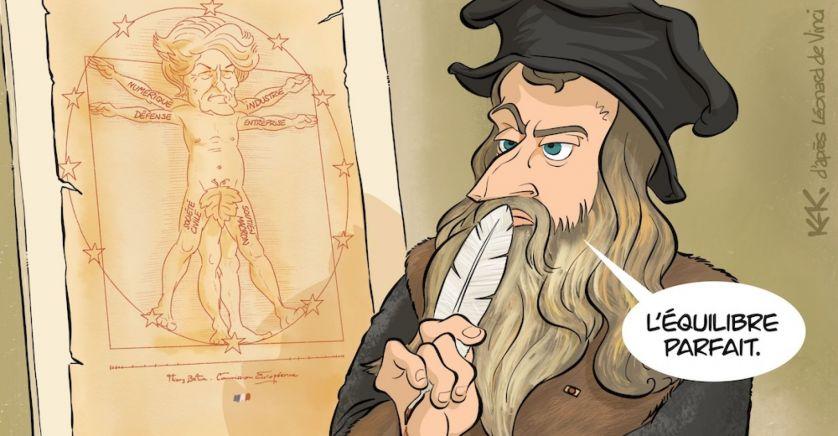 Thierry Breton caricature
