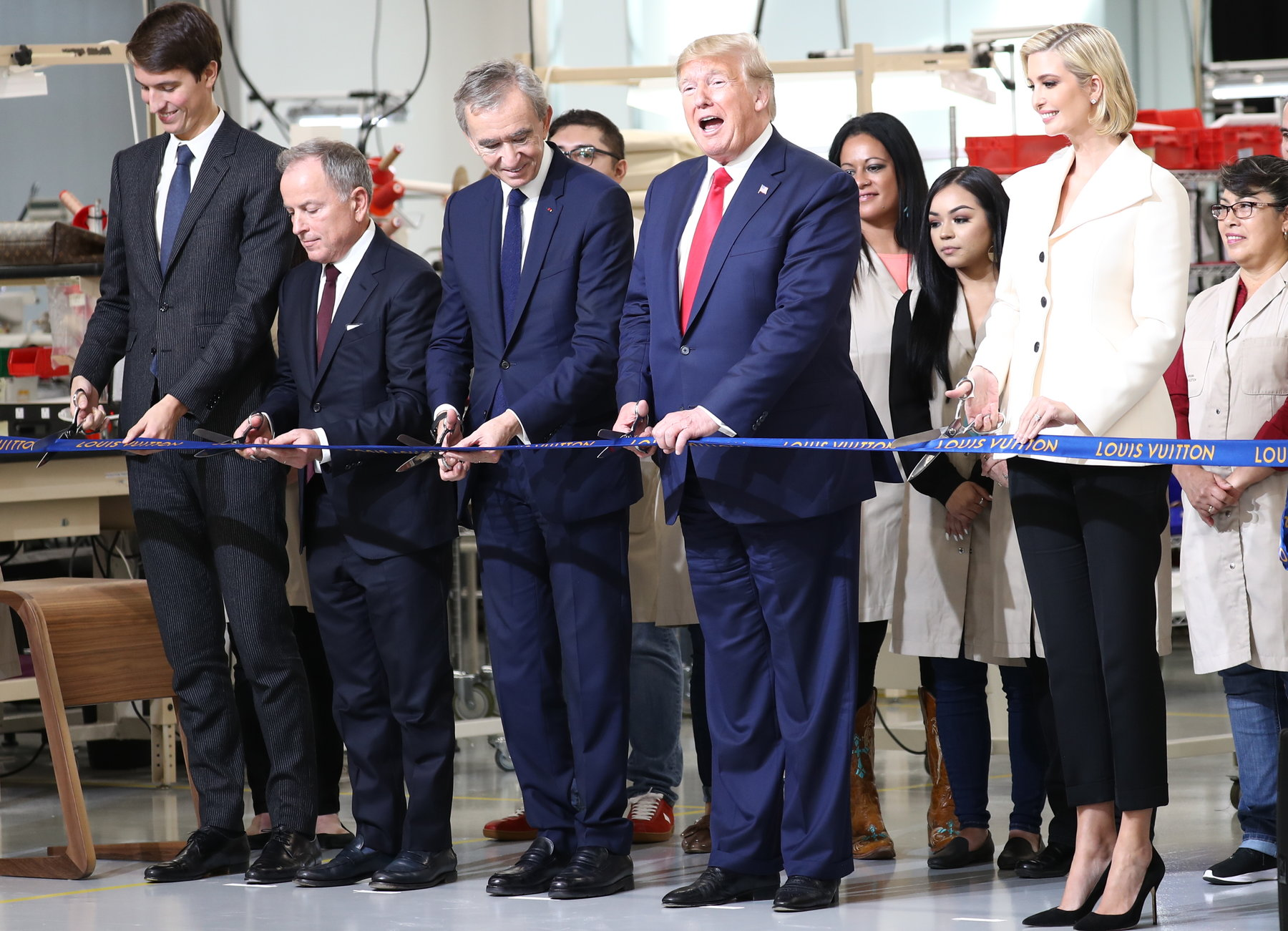 Arnault with Trump at an opening
