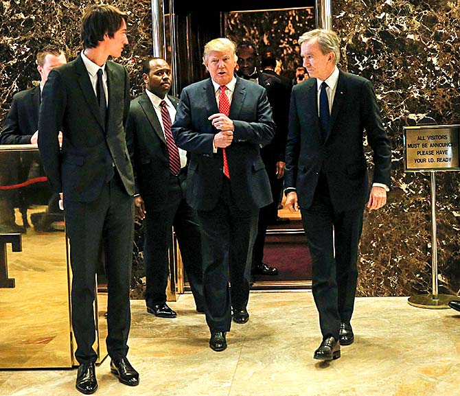 Arnault in White House with Trump