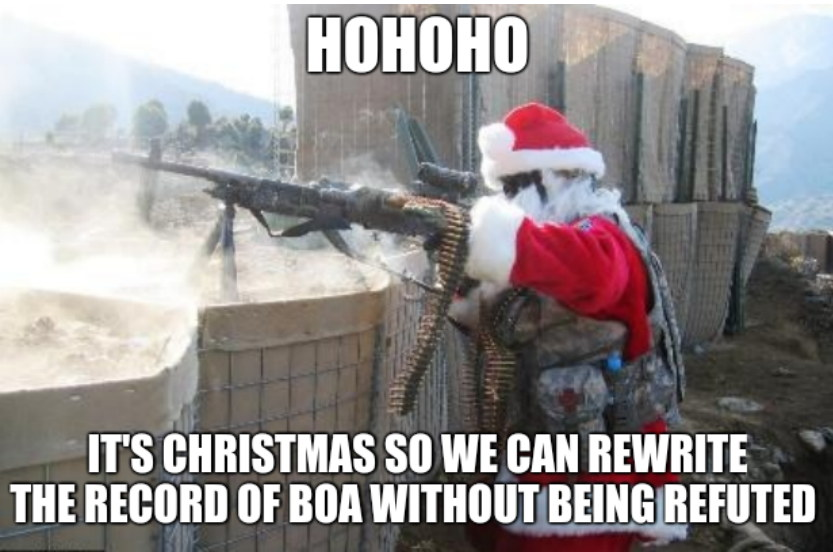 Hohoho. It's Christmas so we can rewrite the record of BoA without being refuted.