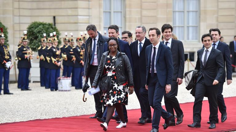 Arrivals at Emmanuel Macron ceremony at Elysee Palace