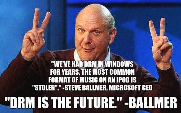 Ballmer on DRM