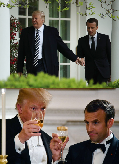 Macron, Trump