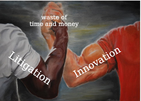Innovation vs Litigation = waste of time and money