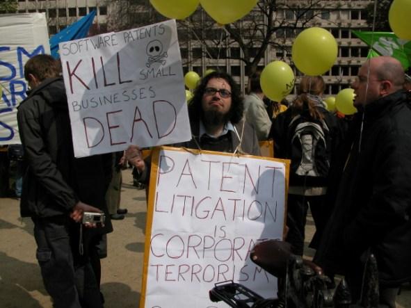 Patent terrorism