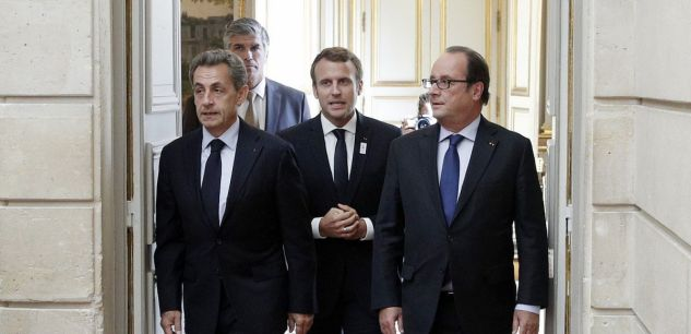 French presidents alongside