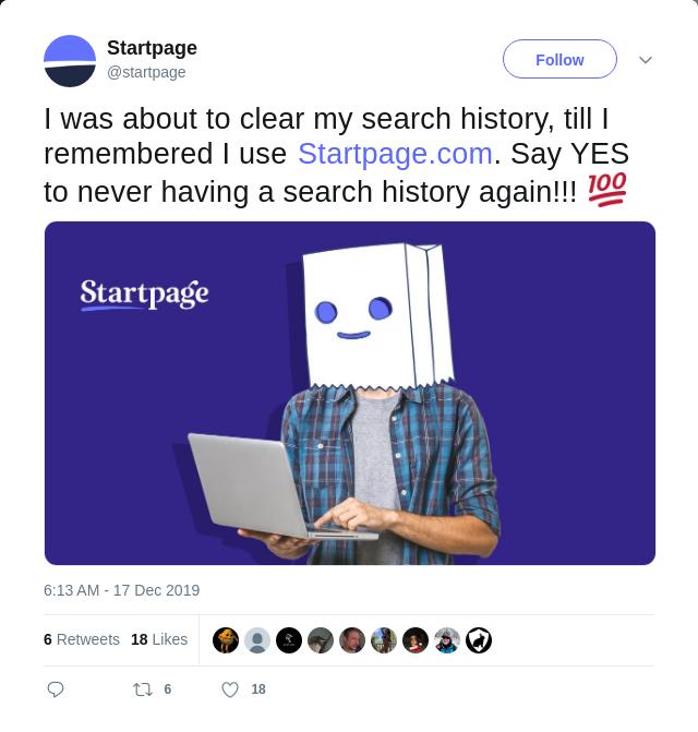 Startpage lie