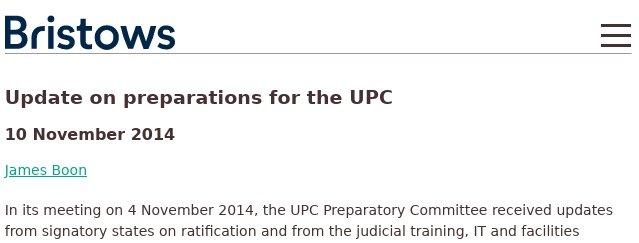 UPC in 2014