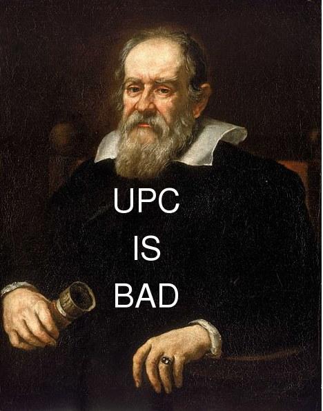 Galileo Galilei and UPC