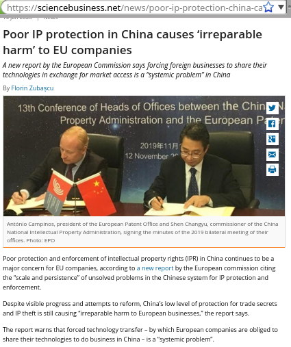 European Commission's paper on China