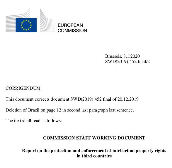 European Commission's paper