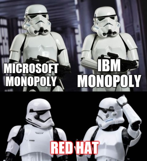 IBM Monopoly, Microsoft Monopoly, Red Hat