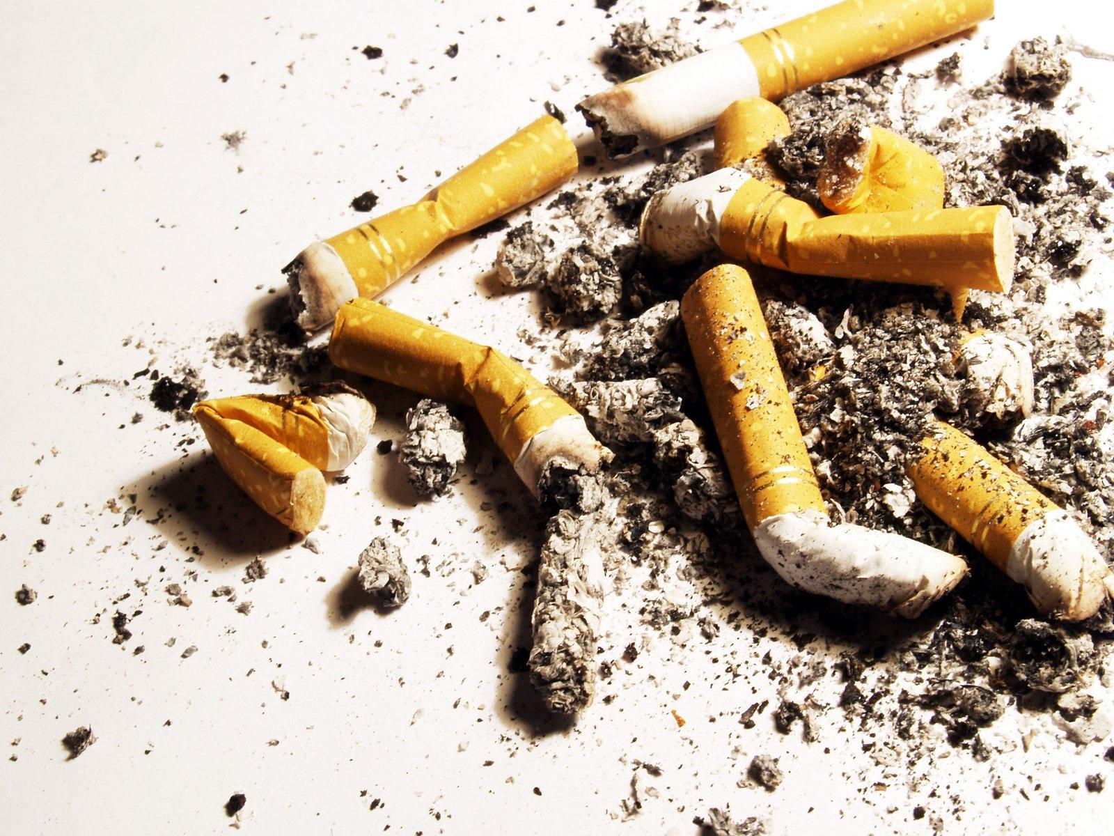 A smoker's mess