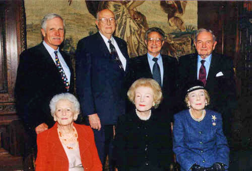 Gates, Turner, Soros, and Rockefeller Photo Op