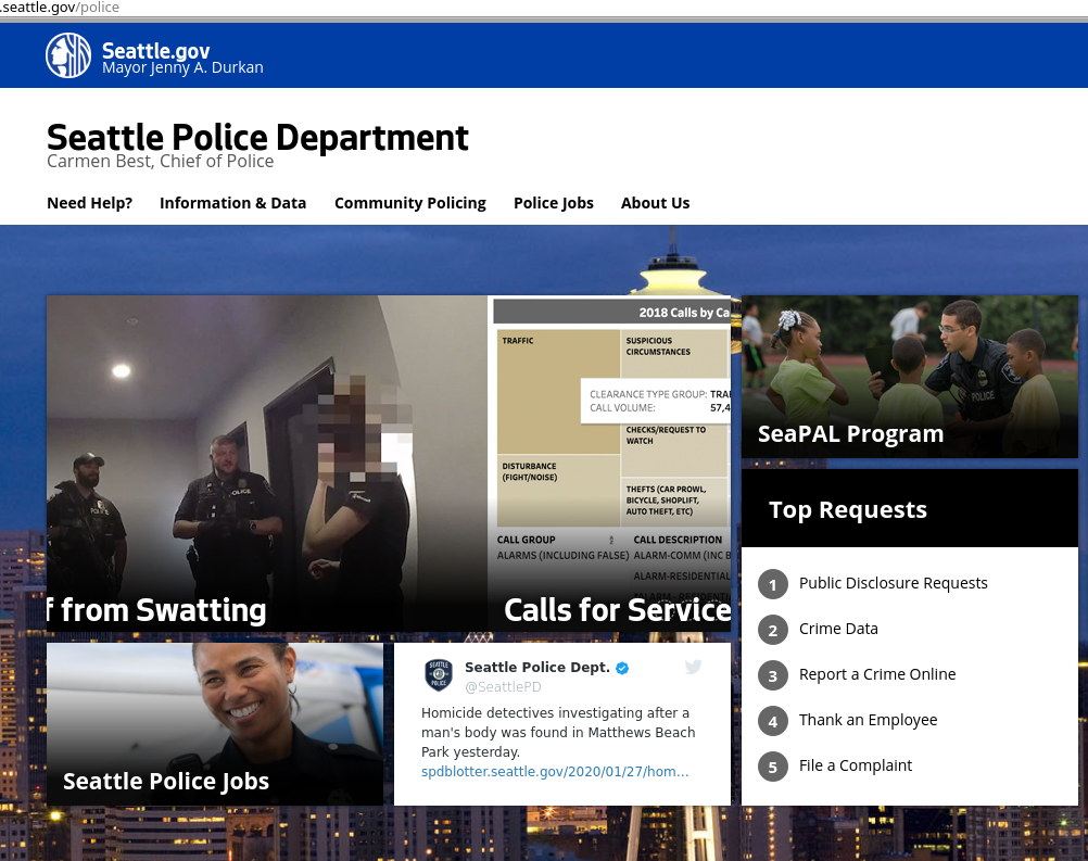 Seattle police website