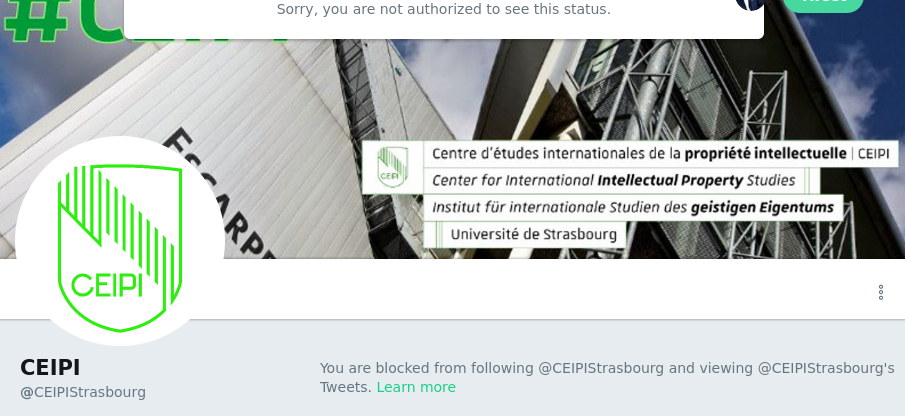CEIPI blocks me