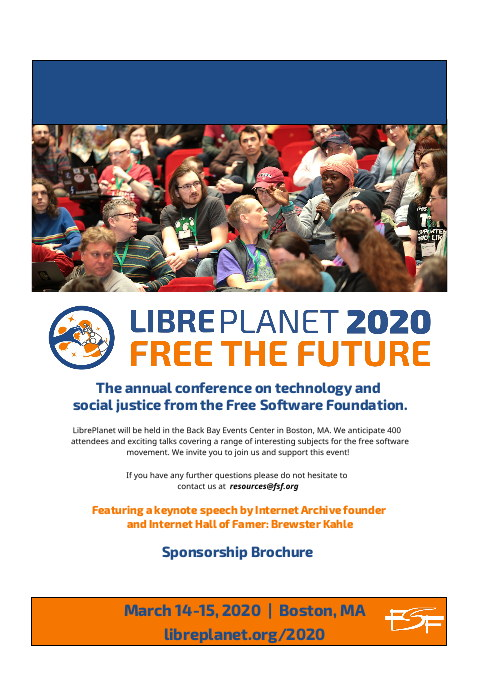 LibrePlanet sponsors page 1
