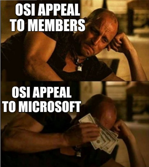 OSI Appeal to members, OSI Appeal to Microsoft