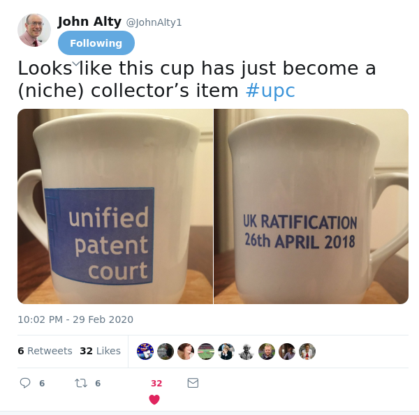 John Alty on UPC