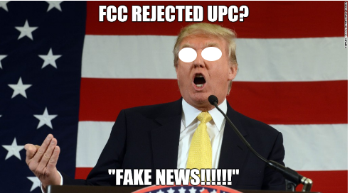 FCC Rejected UPC?