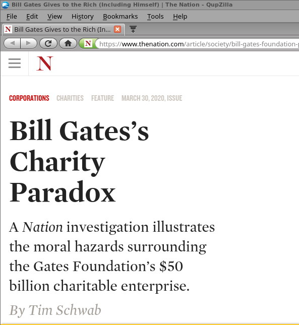 Bill Gates Gives to the Rich (Including Himself) by Tim Schwab
