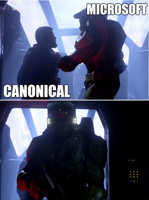 Canonical and Microsoft