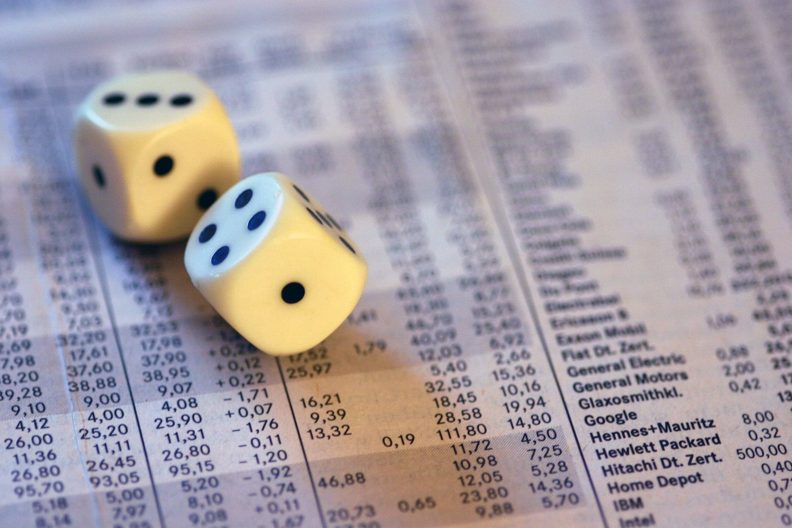 Dices on stocks