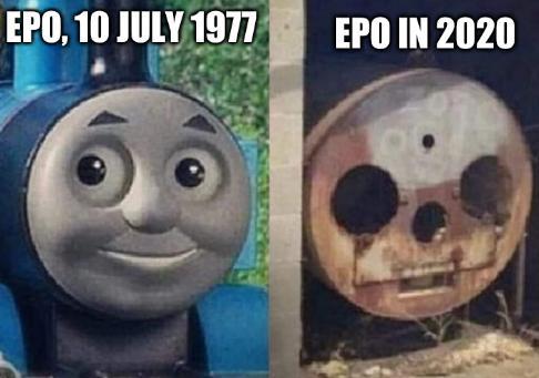 EPO, 10 July 1977; EPO in 2020