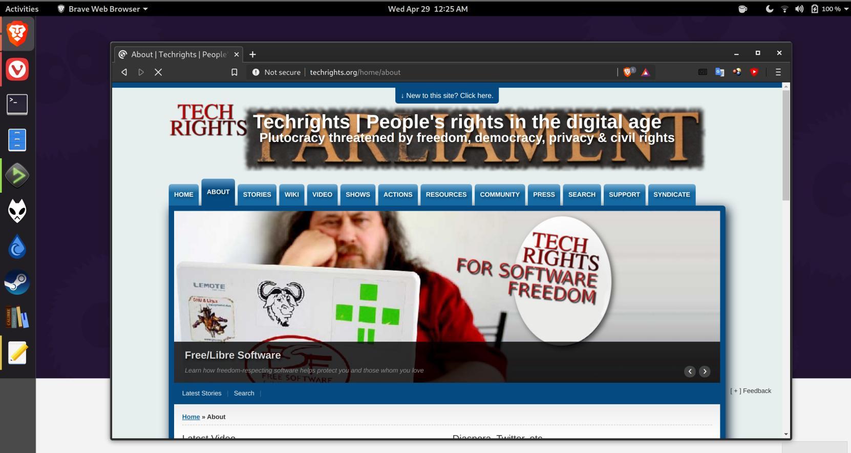 Techrights on Fedora 32