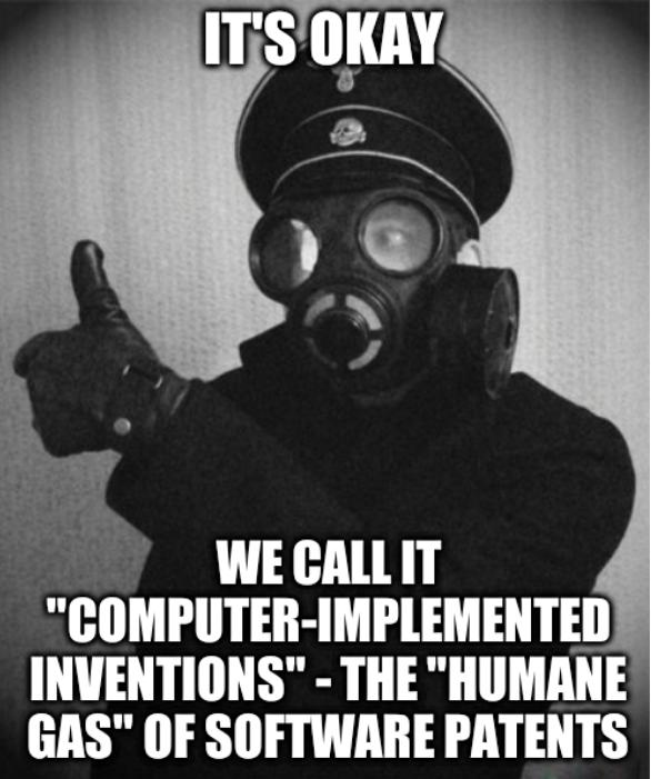 It's Okay. We call it 'computer-implemented inventions' - the 'humane gas' of software patents