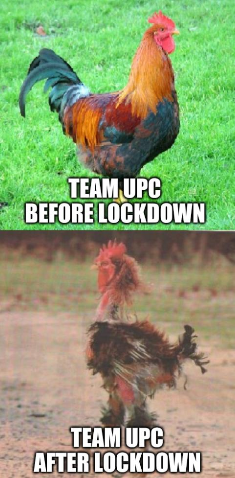 Team UPC Before Lockdown: Team UPC After Lockdown