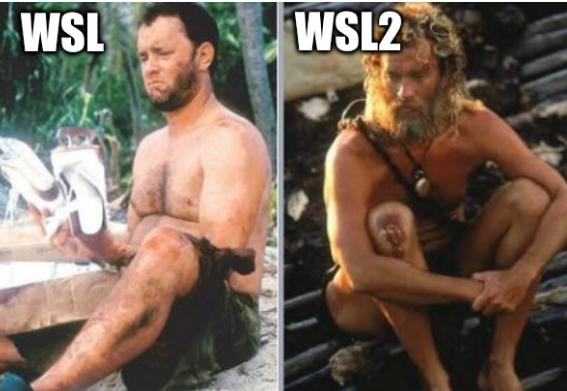 Tom Hanks castaway WSL/2