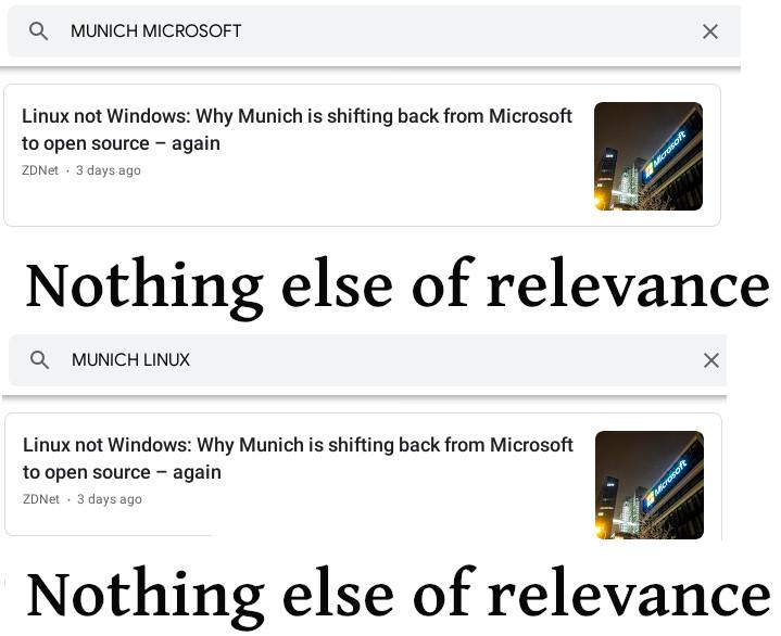 Munich Dumped Microsoft - media coverage