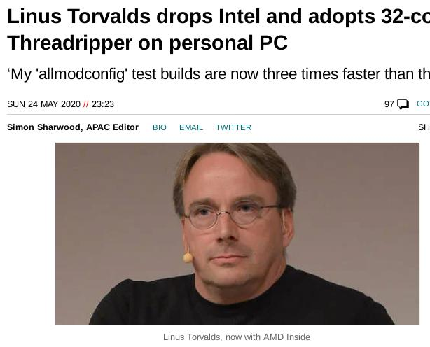 Torvalds article in The Register