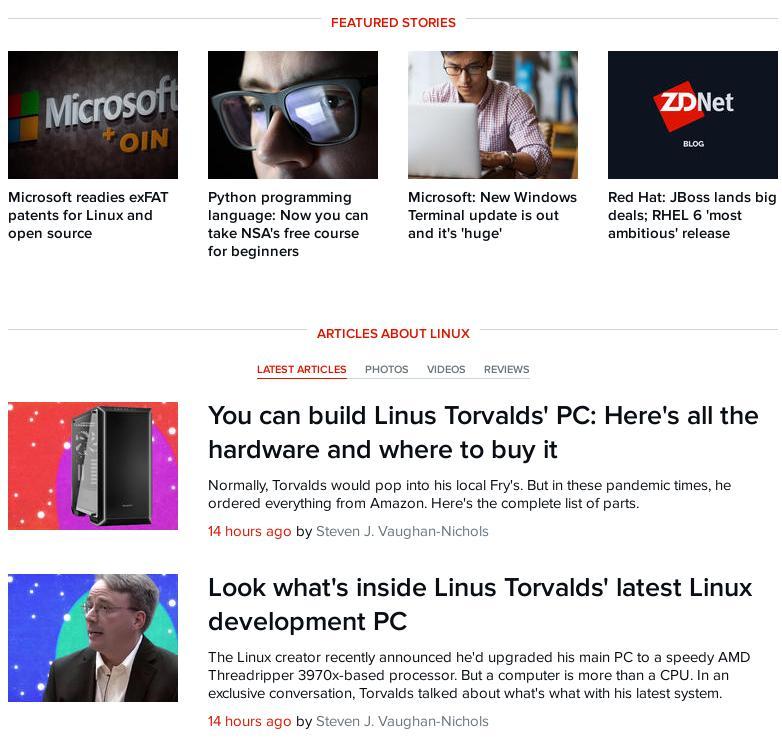 ZDNet on Torvalds