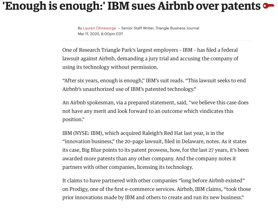 IBM lawsuits persist in 2020 (over patents)
